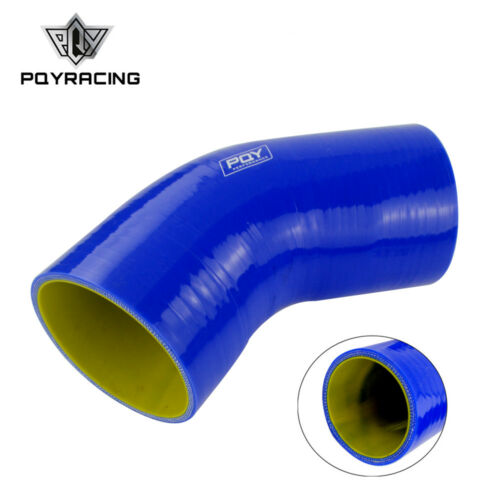 3 Inch Silicone 45 Degree Elbow Pipe Intercooler Hose Coupler 76mm Turbo Blue