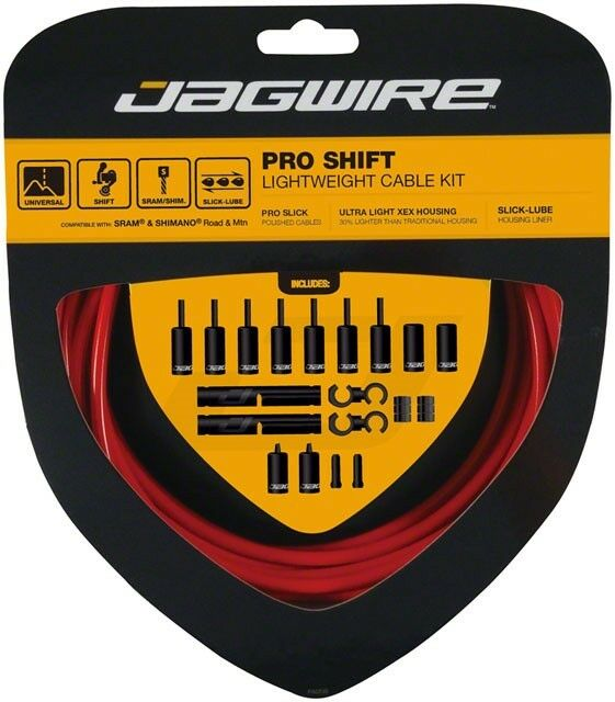 Jagwire Pro Shift Cable Kit Road Mountain SRAM Shimano Red