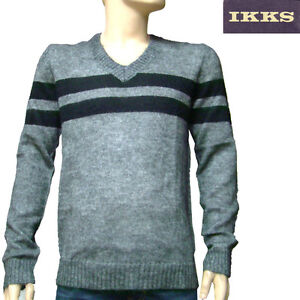 Gris V Xl Col Taille Lainage Men Homme Pull Ikks wxIPpzqF7