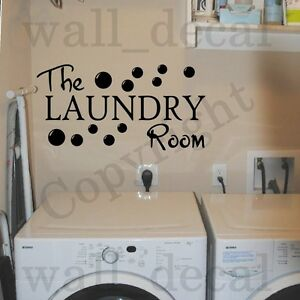 Laundry Room Vinyl Delectable The Laundry Room Vinyl Wall Decal Sticker Decor Quote Bubbles Wash Design Inspiration
