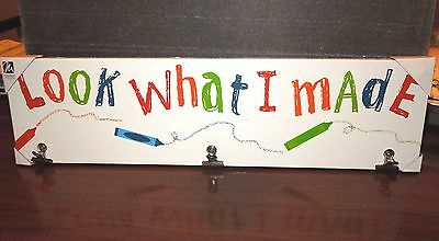 """Kids Novelty Art Display """"Look What I Made"""" Parents & GP Project Holder GIFT"""