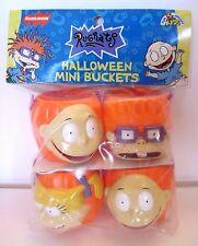NEW Rugrats, Nickelodeon Halloween Pumpkin Character Mini Buckets, 1998