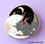 miniature 1 - Cat Pin Badge Brooch Gift White Black Grey Trio Enamel Jewellery Cat Lover Lady