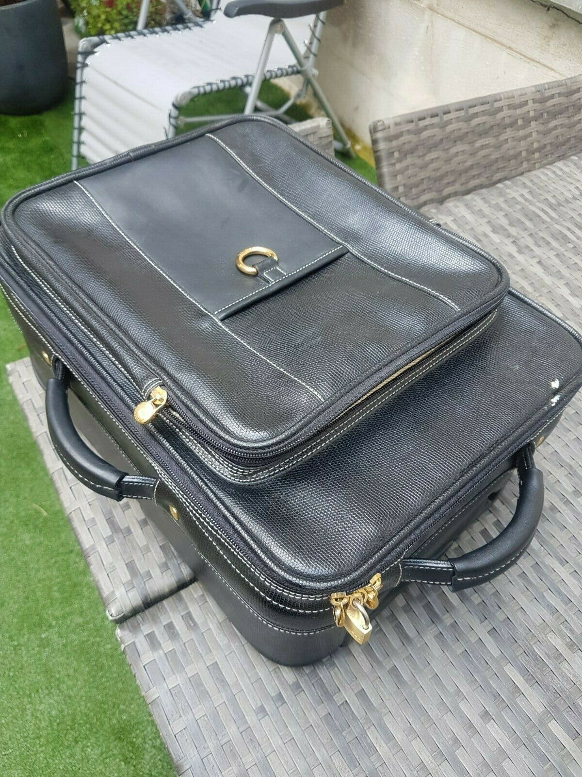 Lancel - Valise Trolley Cabine schwarz Bagage