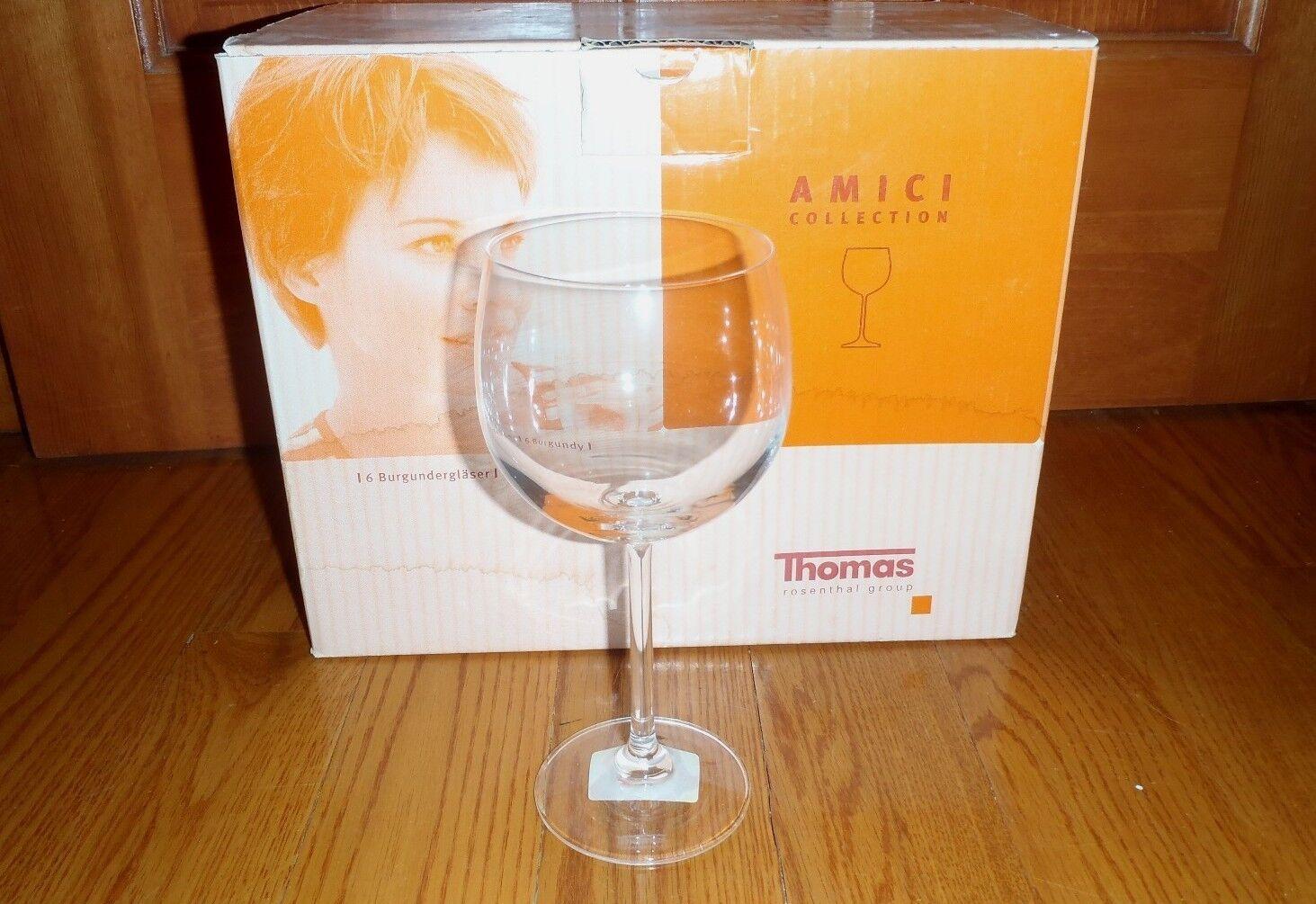 Thomas Rosenthal Group  Burgundy Wine Glasses Set of 6  NEW in BOX