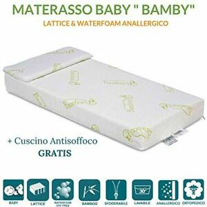 Materasso In Lattice Per Bambini.Materasso Per Bambini In Lattice E Water Foam Fodera Bamboo Naturale Cuscino Ebay