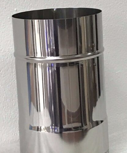 Stainless Steel Chimney Premium 1.4404 rehabilitation Angle Napoleon Flue Pipe EW 0,6mm