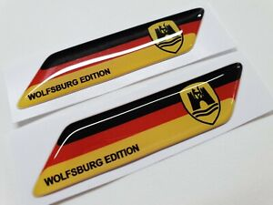VW-Transporter-T4-T5-T6-Beetle-Golf-GTi-70mm-exterior-Badges-x2-Decals-Stickers