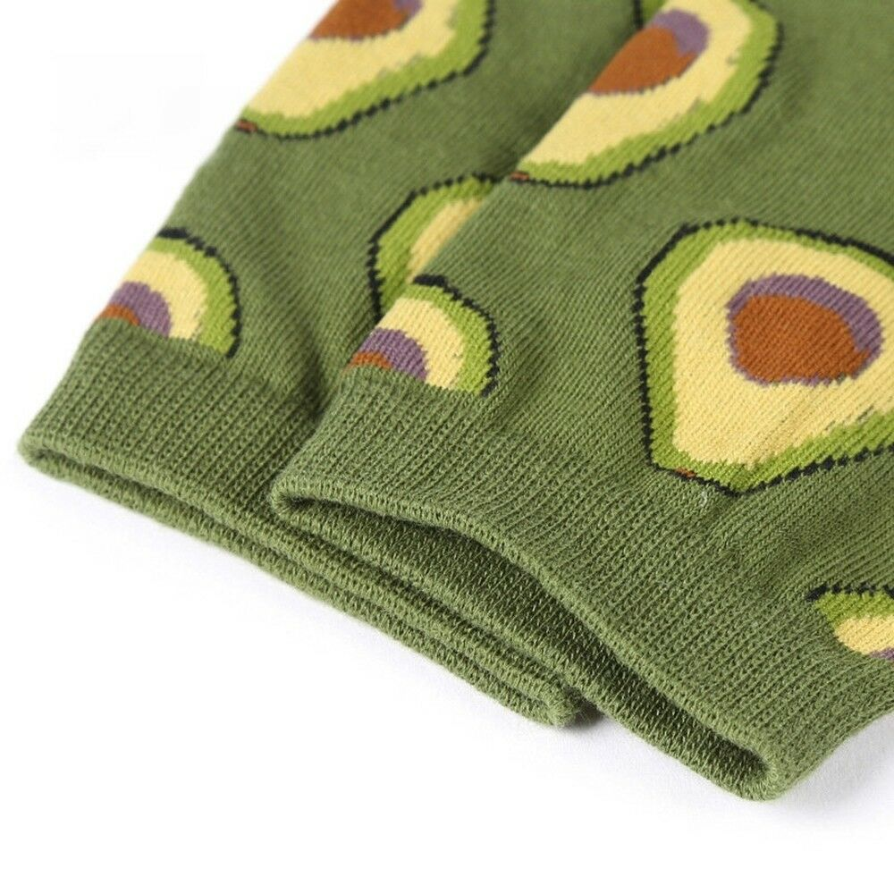 Avocado Omelette Burger Sushi Apple Plant Fruit Food Socks Funny Socks Happy SD