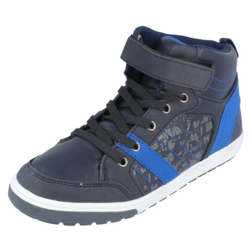BOYS JCDEES HIGH TOP TRAINERS IN 3 COLOURS STYLE N2027
