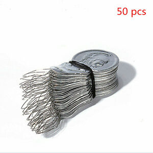 50pcs-Bow-Wire-Needle-Pin-Threaders-Insertion-Tool-Sewing-Craft-Stitch-Helper