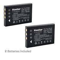 2x Kastar Battery For Fujifilm Np-60 Panasonic Sv-av10 Sv-av100 Sv-av100eg-s