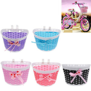S Bike Bicycle Cycle Front Basket Shopping Stabilizers For Children Kids Girls