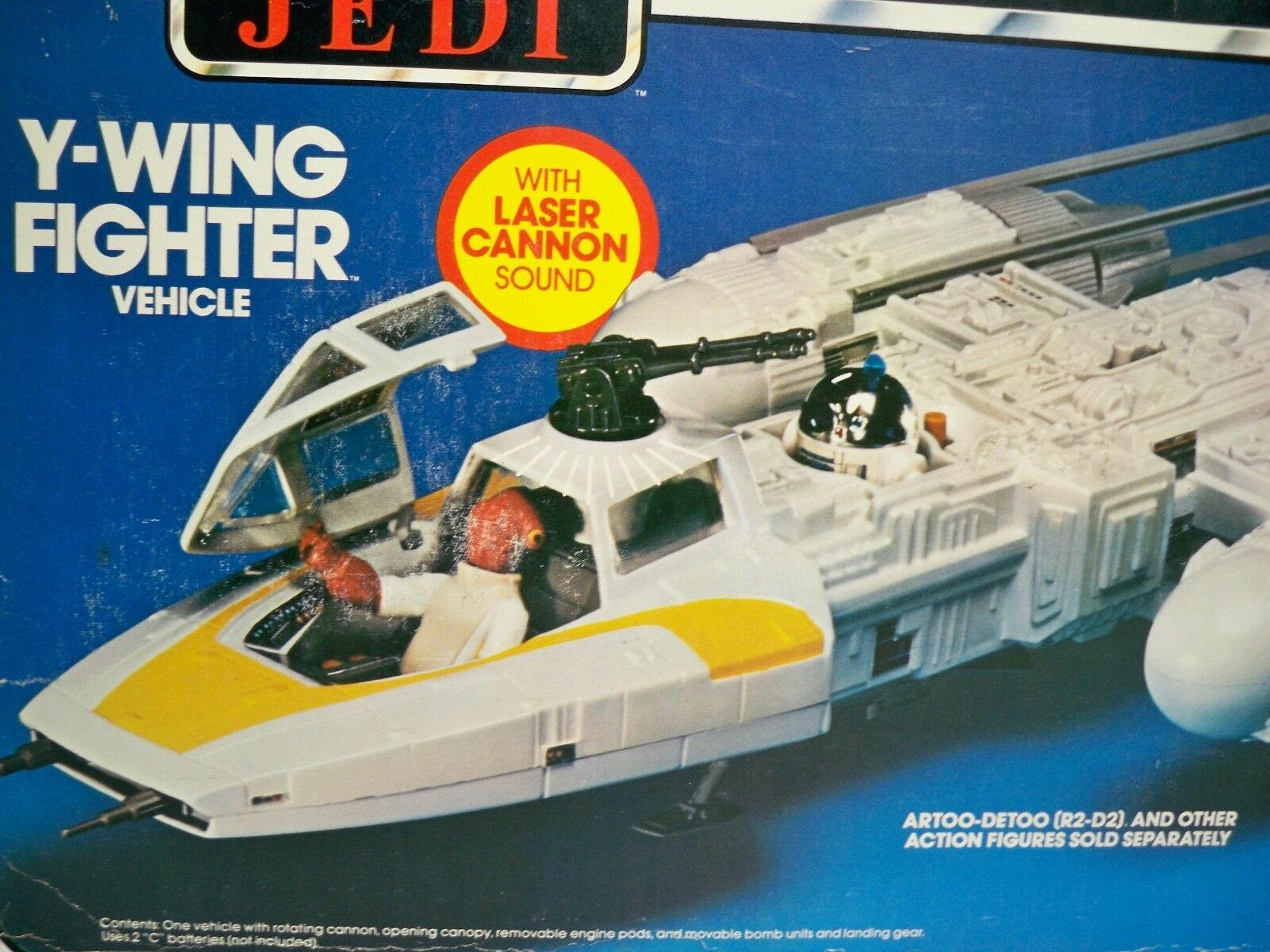 D1084451 Y WING FIGHTER SHIP MINT IN BOX MIB STYLE COMPLETE 1980 STAR WARS