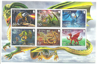 Jersey-Dragons-January 2015 new issue mnh-min sheet