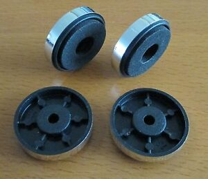 Set-of-4-x-Chrome-Finished-Isolation-Feet-30-mm-x-8-mm-Complete-with-screws