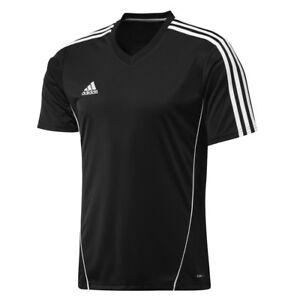 Details zu Adidas Performance ESTRO 12 Schwarz Sports Junge Jersey T shirt Fußballtrikot