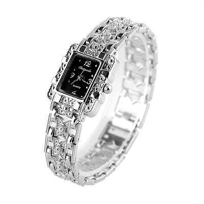 Women Lady Bracelet Oranment Quartz Wrist Watch Silver Butterfly Strap