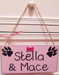 Handmade-personnalise-rose-plaque-bleue-signe-chien-de-compagnie-nom-vit-ici-os-cadeau