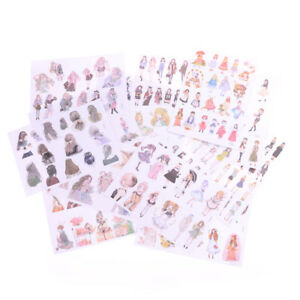 2Sheets-Lovely-Fashion-Girls-Diary-Scrapbook-Decoration-DIY-Stickers-Toys-iv