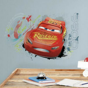 LIGHTNING MCQUEEN Cars  Movie Wall Stickers  Decals MURAL Disney - Lightning mcqueen custom vinyl decals for car