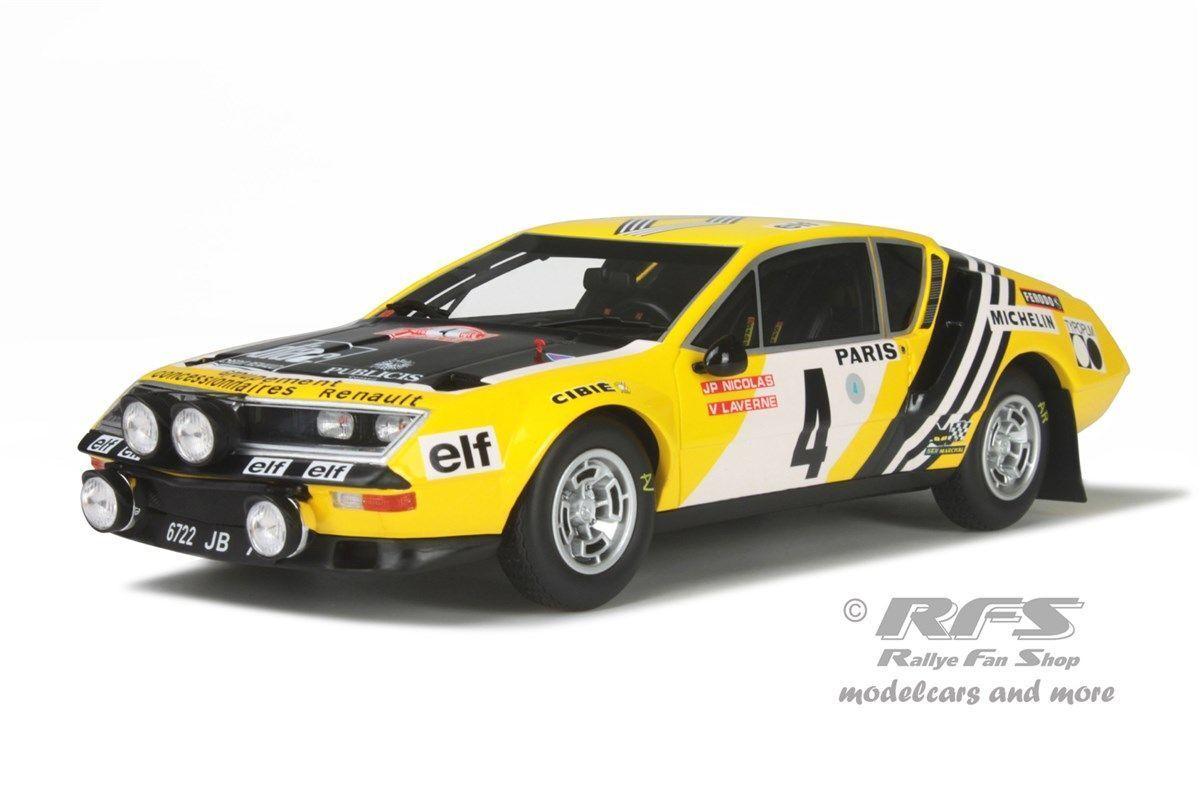 Alpine Renault a 310 Rally de Monte Carlo 1976 nicolas 1 18 Otto Mobile 201 nuevo