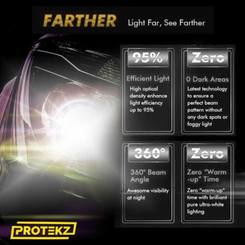 CREE LED Headlight Kit 9004 HB1 6K White Hi//Low Bulb for TOYOTA Tercel 1995-1996