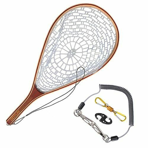 Fishing Net Fly Trout Landing Nylon Network Lanyard Rope With Magnetic Buckle