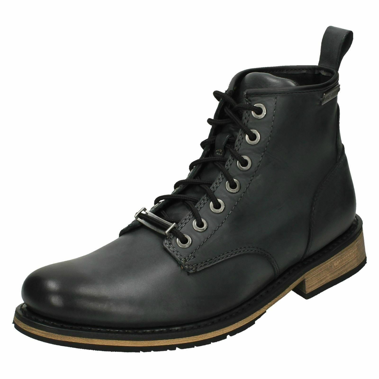 HARLEY davidson UP da uomo nera leatherlace UP davidson Boot 2d03d3