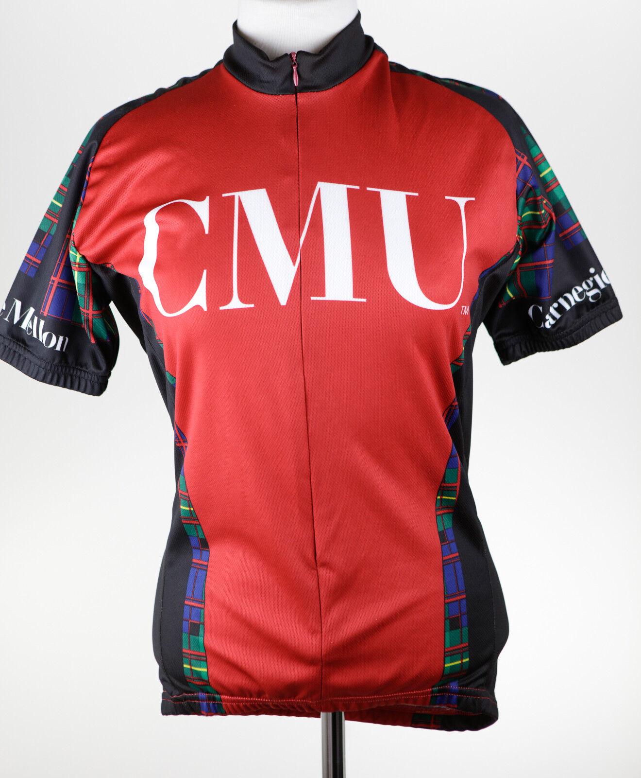 Adrenaline Promotions Men CMU Carnegie Mellon Cycling Jersey Dimensione Small EUC I737