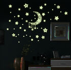 1 Sheet Glow In The Dark Wall Stickers Home Bedroom Decor Luminescent Moon Stars