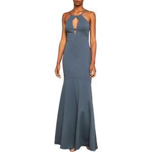 BCBGMAXAZRIA Womens Cut-Out Halter Formal Evening Dress Gown BHFO 6481