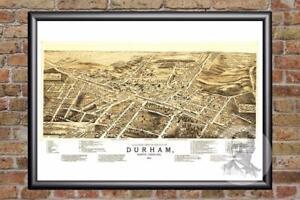 Vintage-Durham-NC-Map-1891-Historic-North-Carolina-Art-Victorian-Industrial