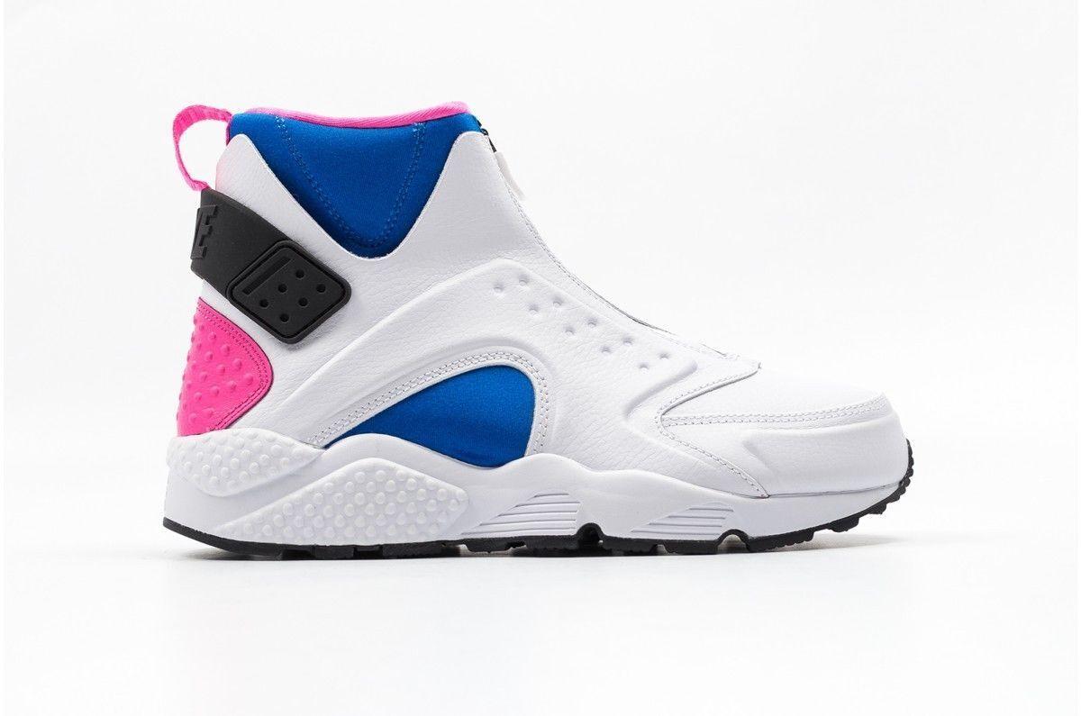 Nike Air Huarache Run MID 807313-100 White Black Soar Pink Pow Women's Size 11.5