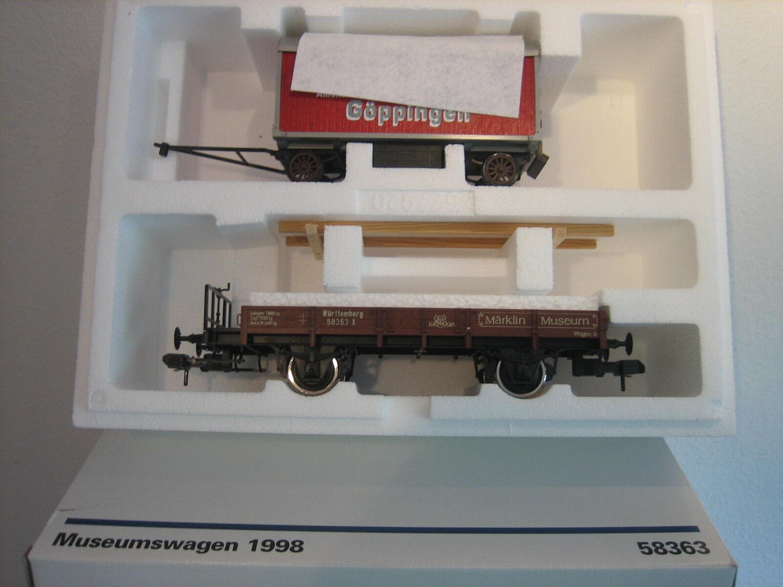 MÄRKLIN escala 1 58363 Vagón de Mercancías coche MUSEO 1998 Condición Nuevo