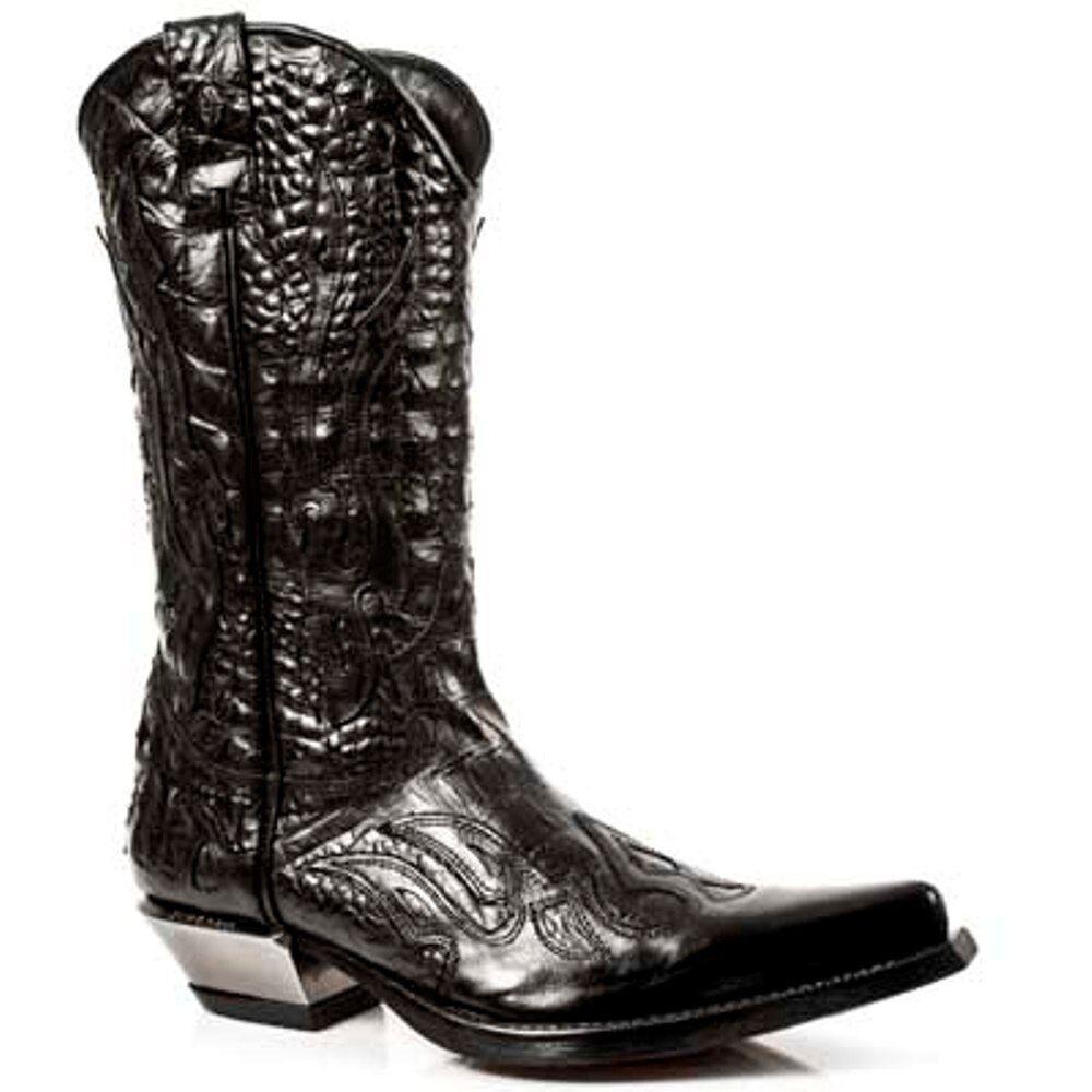 New Rock Boots Unisex Punk Gothic Stiefel - Style 7921 S1 Schwarz