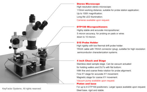 Probe Station-SimplePS TRIAX with Micropositioner For I-V//C-V Tests