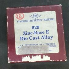 Nist Standard Reference Material 629 Zinc Based E Die Cast Alloy