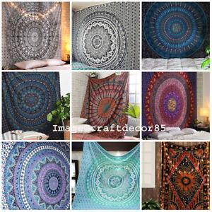 Indische-Mandala-Bettwaesche-Wandbehang-Tapisserie-Hippie-Bohemian-Bettwaesche-wer