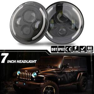 2X-7-039-039-Pouces-50W-LED-phare-Halo-angle-feux-de-signalisation-pour-Jeep-Wrangler