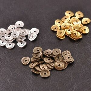 100pcs Tibétain Argent/or/bronze Ondulées Rondes Charms Spacer Beads 8 Mm E3038-onze Wavy Round Charms Spacer Beads 8mm E3038 Fr-fr Afficher Le Titre D'origine