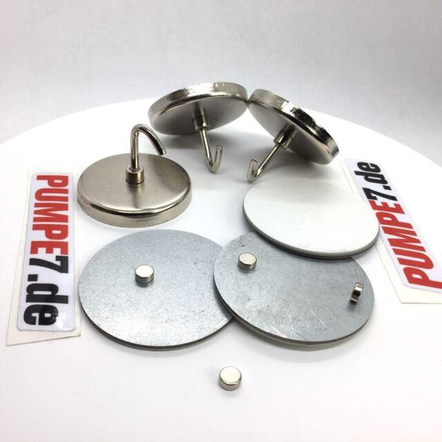 13 Teilig Neodym Magnet Magnetplatte Magnethalter für Rauchmelder Ø 6cm Halter