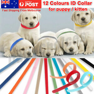Soft 12 Colors Whelping Puppy & Kitten ID Magic Tape Collar Bands, For Breeders