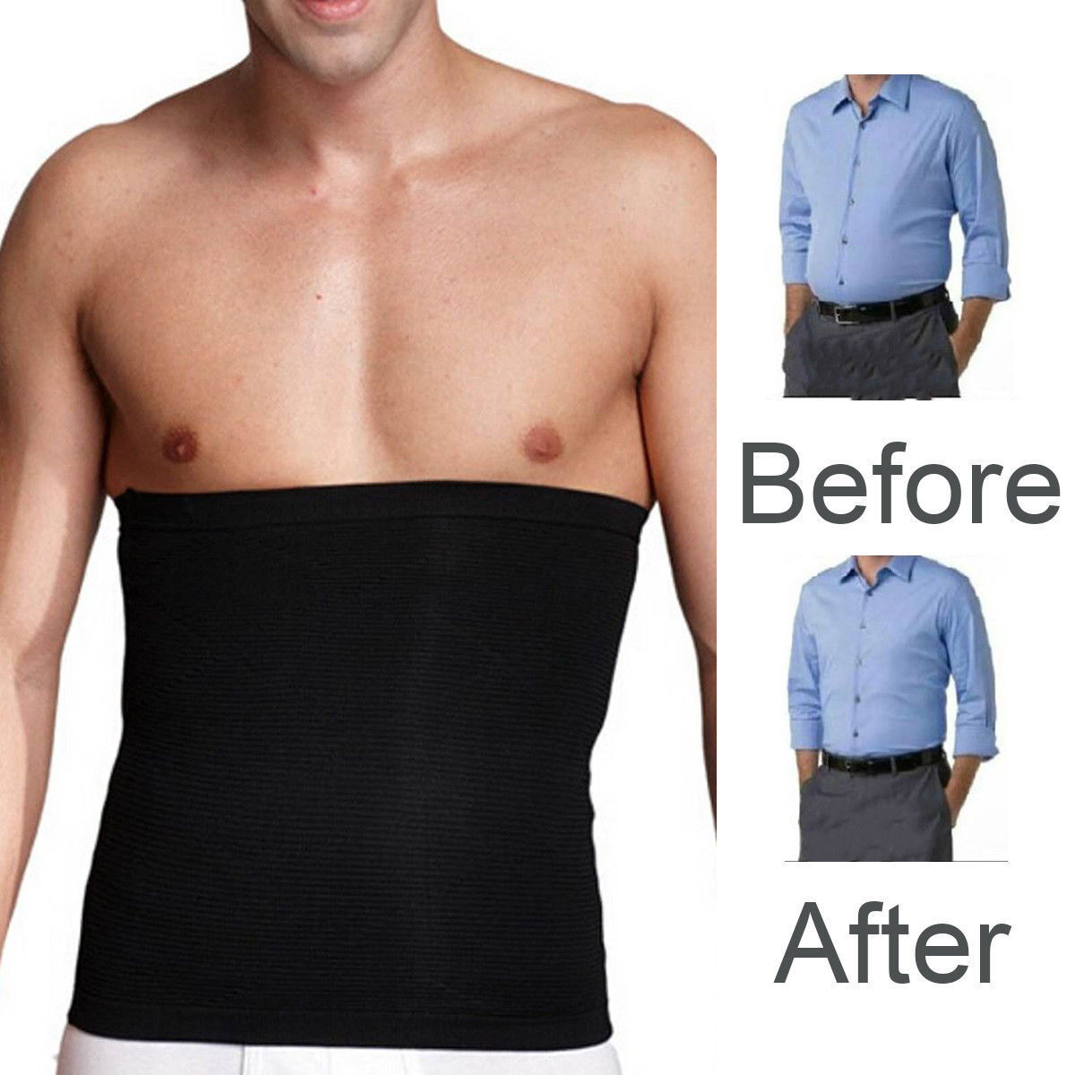 f396f25392 Details about Fat Burner Sauna Tummy Tuck Belt Body Shaper Girdle Belly  Slimmer Waist Trainer