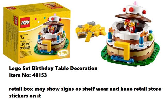 LEGO Birthday Table Decoration Cake 40153