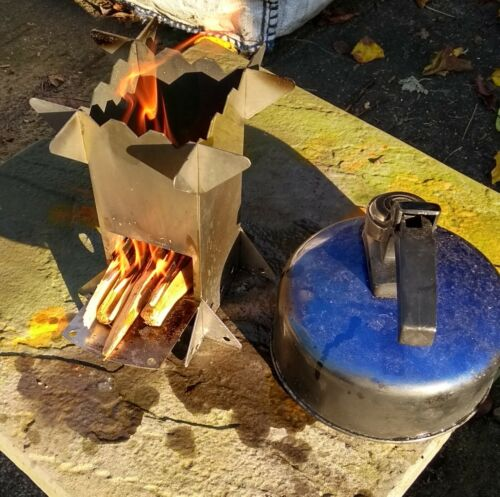 collapsible and portable Wood Burning Camping Micro-Stove