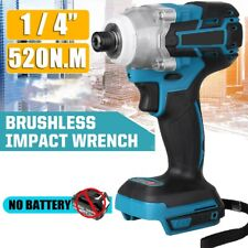 18v Brushless Cordless Impact Wrench Replace For Makita Li Ion Battery 520nm Us