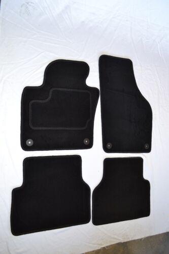 Schwarz Velours Fussmatten Tuning Neu Satz 4-teilig Hochwertig für VW Tiguan 5N