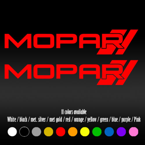 """8/"""" Mopar #2 Bumper Car Window Diecut Vinyl Decal sticker"""