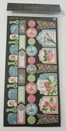 Graphic 45 Botanical Tea Banners Cardstock Die Cuts 2 double sided sheets